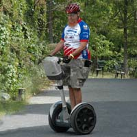 Sheldon on a Segway