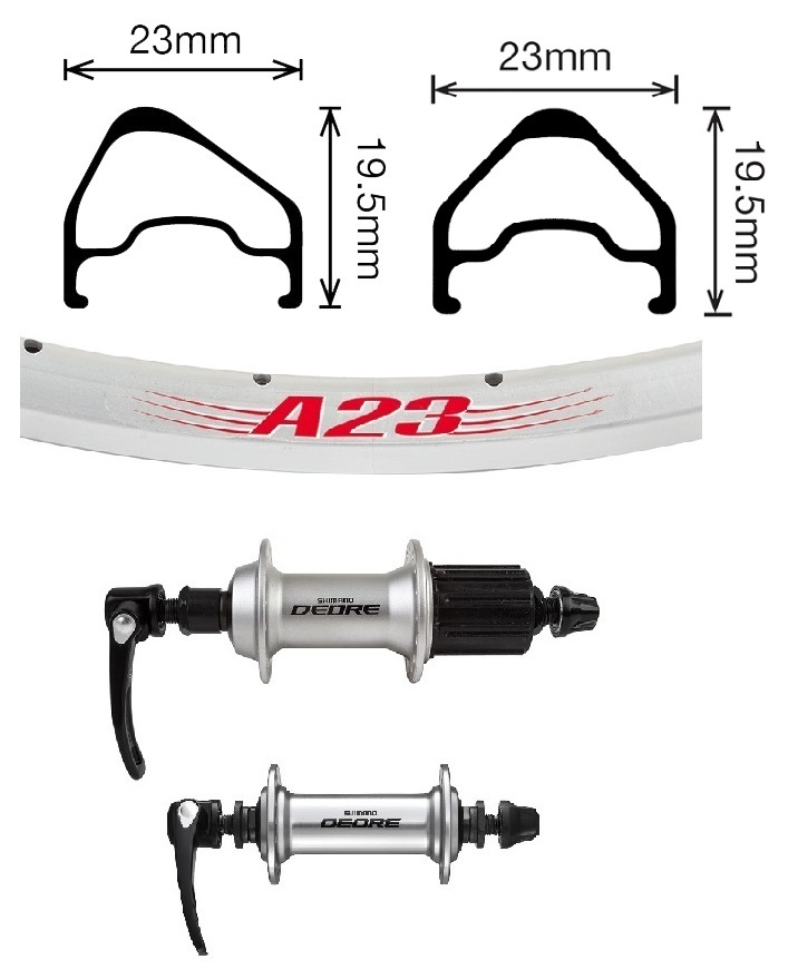 Image shows components only. Actual item is fully assembled wheelset.