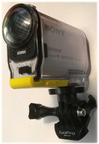 Sony camera on GoPro base