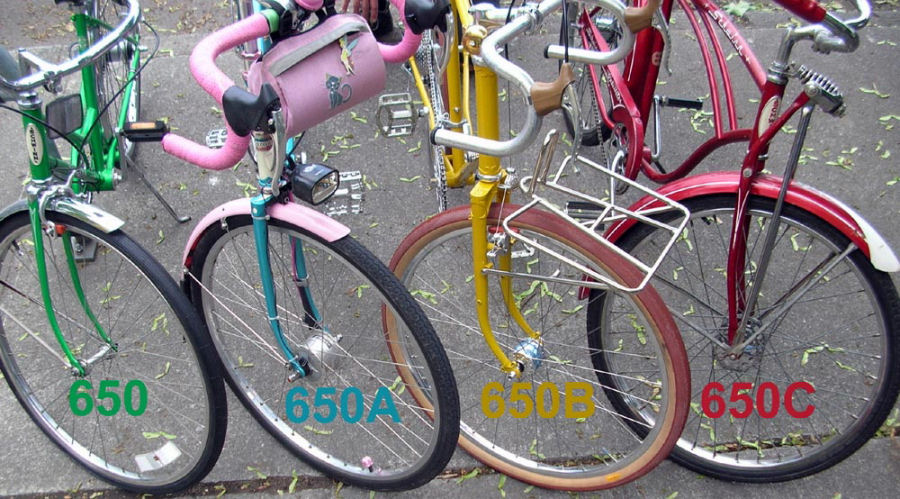 four 650 wheel sizes