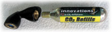CO2 cartridge inflator