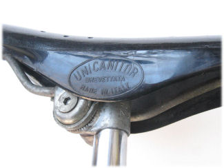 Unica saddle on plain tube seatpost
