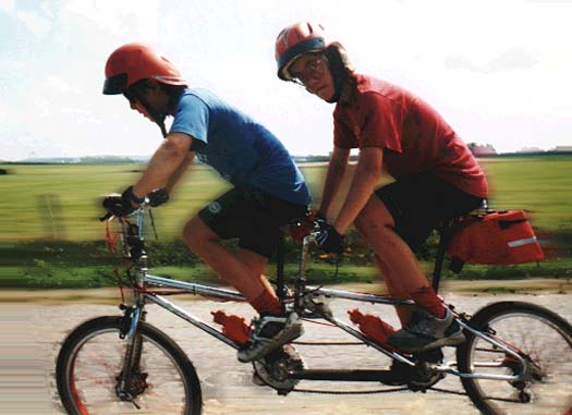 Home-Built Tandem Bicycles