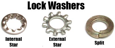 Star, Split Lockwashers