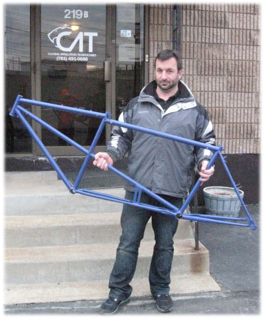 powder-coated frame