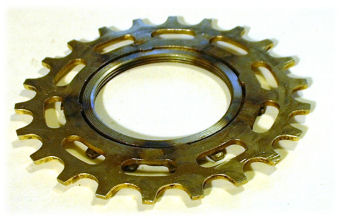 modified sprocket, view from outside