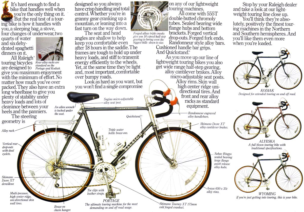 1985 Raleigh Usa Bicycle Catalogue Page 2